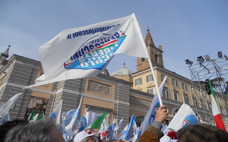 Piazza del Popolo, manifestazione del Popolo delle Libertà