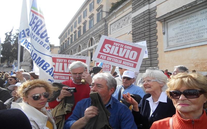 Piazza del Popolo, sostenitori del Pdl