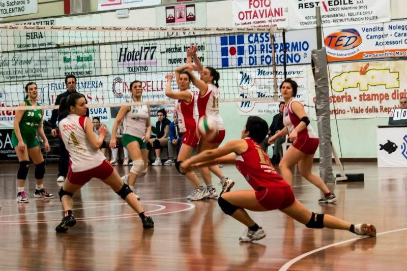 Le ragazze della Ciù Ciù Offida Volley - serie D femminile durante un incontro