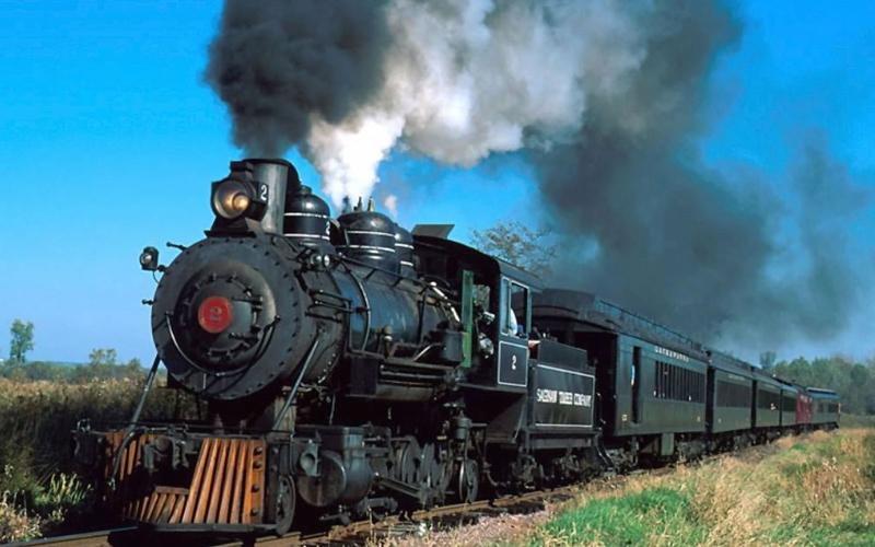 Un treno a vapore