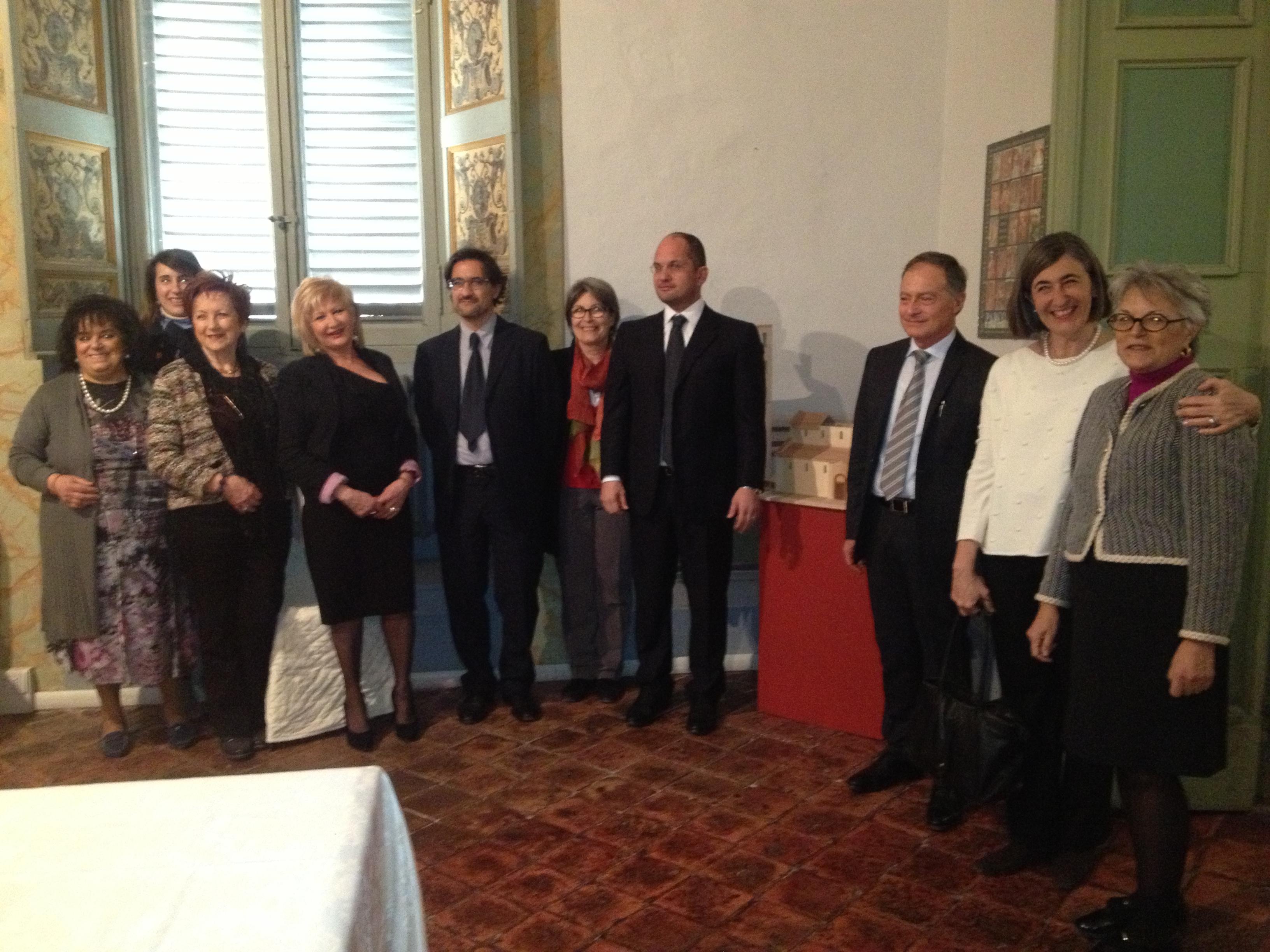 il gruppo fai ascoli con il sindaco castelli, presidente grassini,assessore bruni