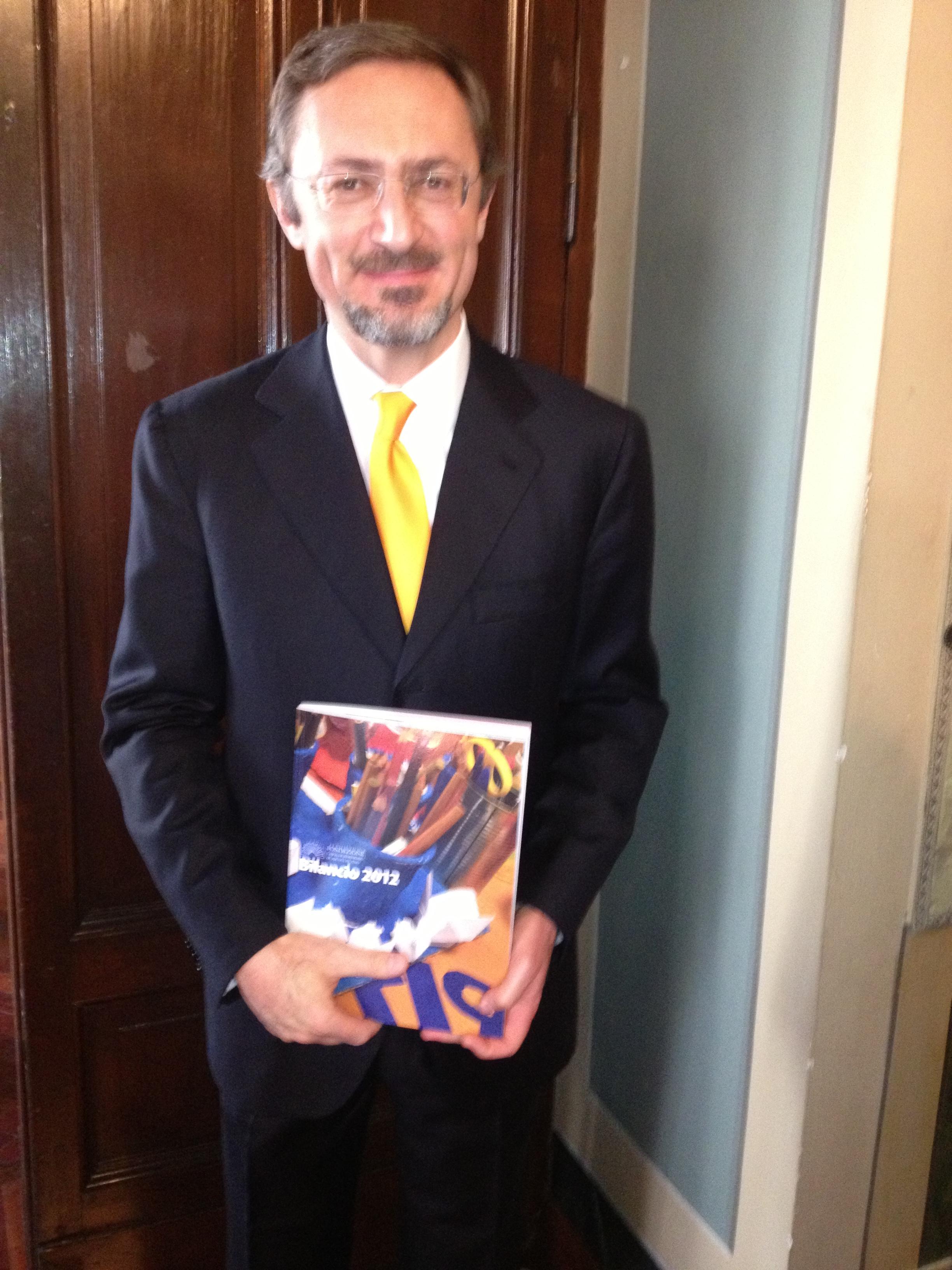 il presidente marini marini col bilancio 2012