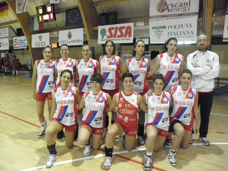 La serie D femminile 2012-13 della Ciù Ciù Offida Volley