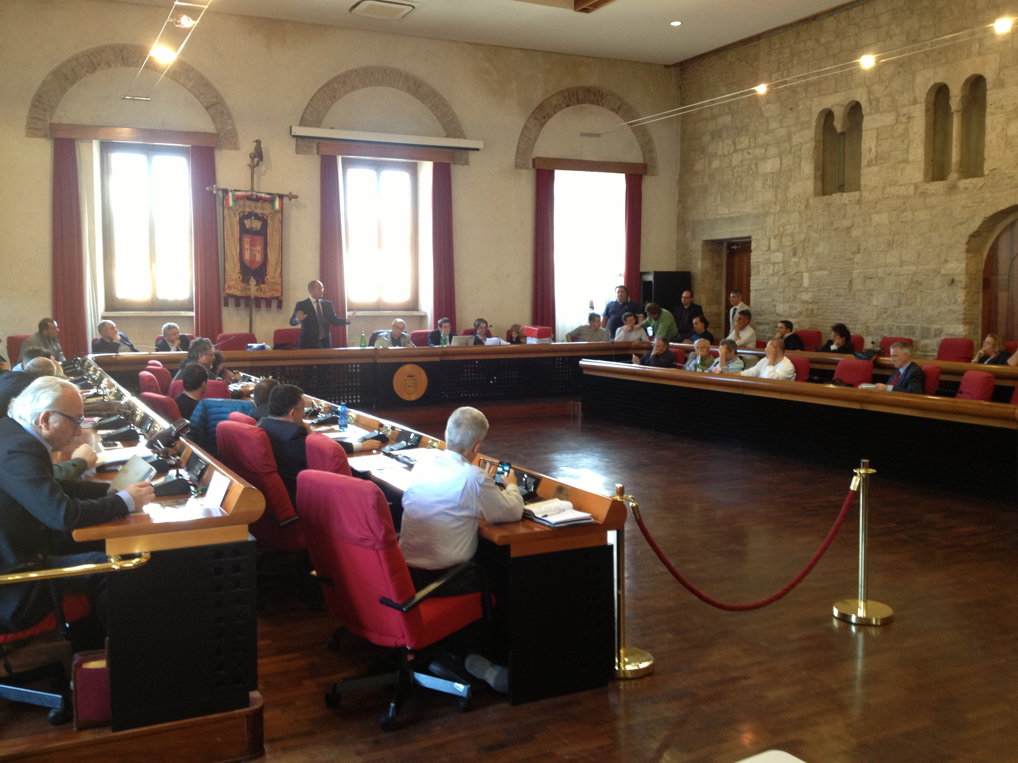 un momento del consiglio comunale
