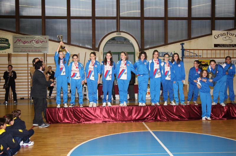 Le ragazze dell'under 13 della Ciù Ciù Offida Volley