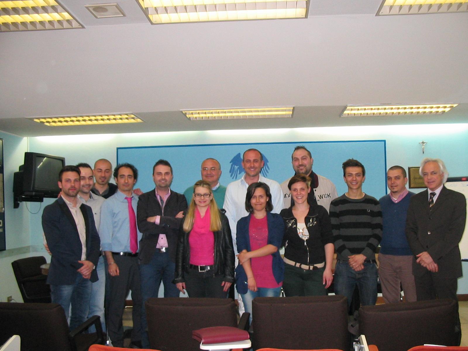 Il Gruppo Giovani Imprenditori con il presidente Confcommercio Fausto Calabresi ed il direttore Giorgio Fiori