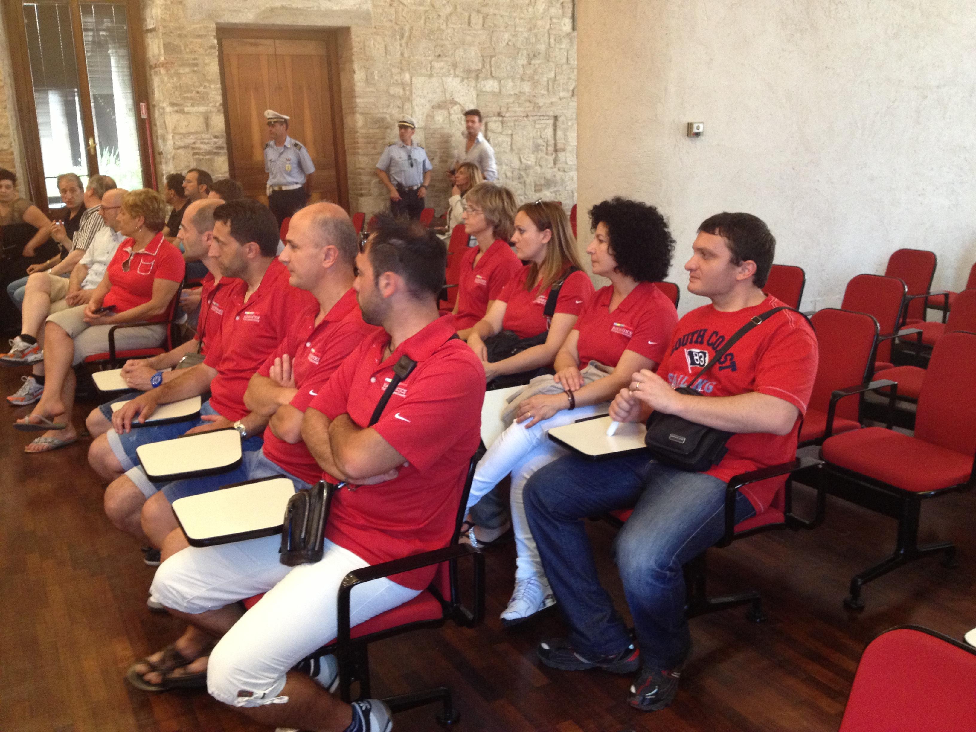 la rappresentanza dei lavoratori della haemonetics ricevuti al consiglio comunale