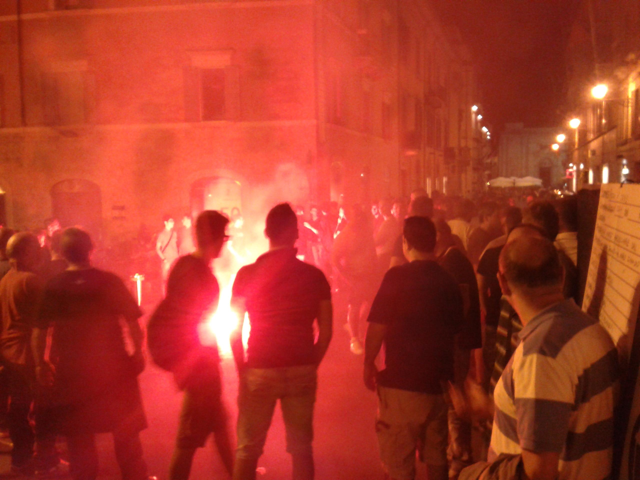I tifosi in strada