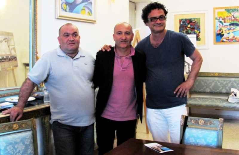 Presentato Ciborghi. Da sinistra Mario Sergiacomi, Piero Antimiani e Stefano Greco