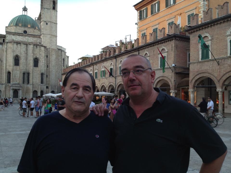 Benetti (a destra) col presidente di Anfe Marche, il professor Rocco Fazzini