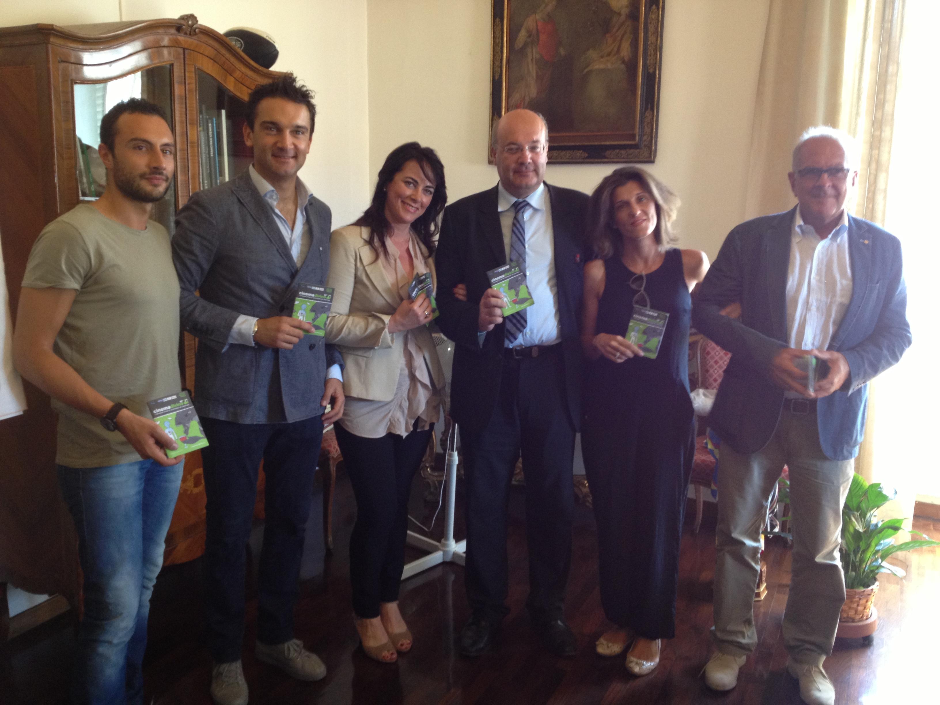 il gruppo dell'experience con l'assessore silvestri e il presidente bucciarelli