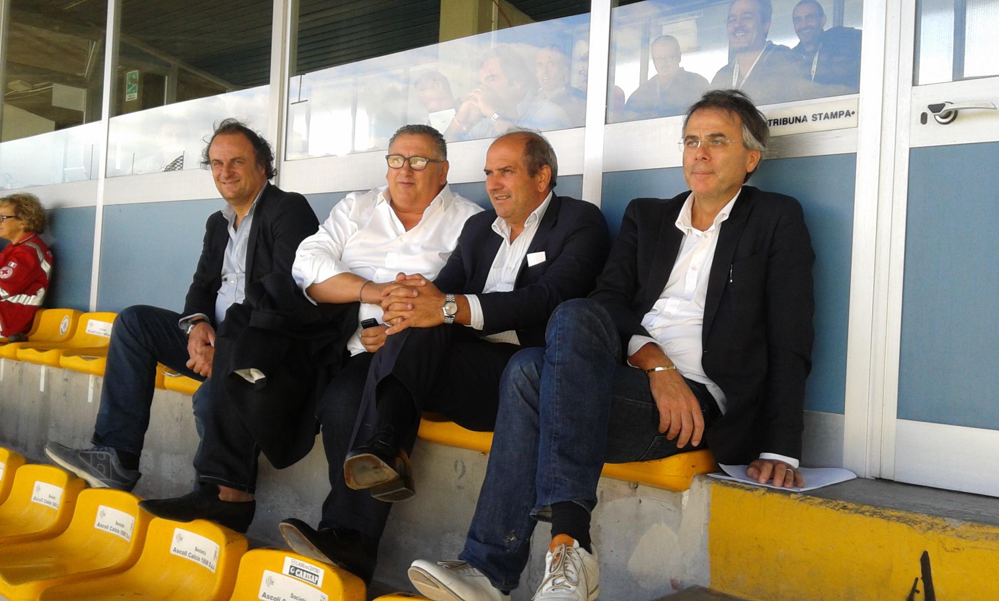 Da destra: Manocchio, Fabiani, Traini e Stallone