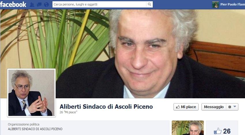 Davide Aliberti sindaco di Ascoli Piceno, pagina Facebook