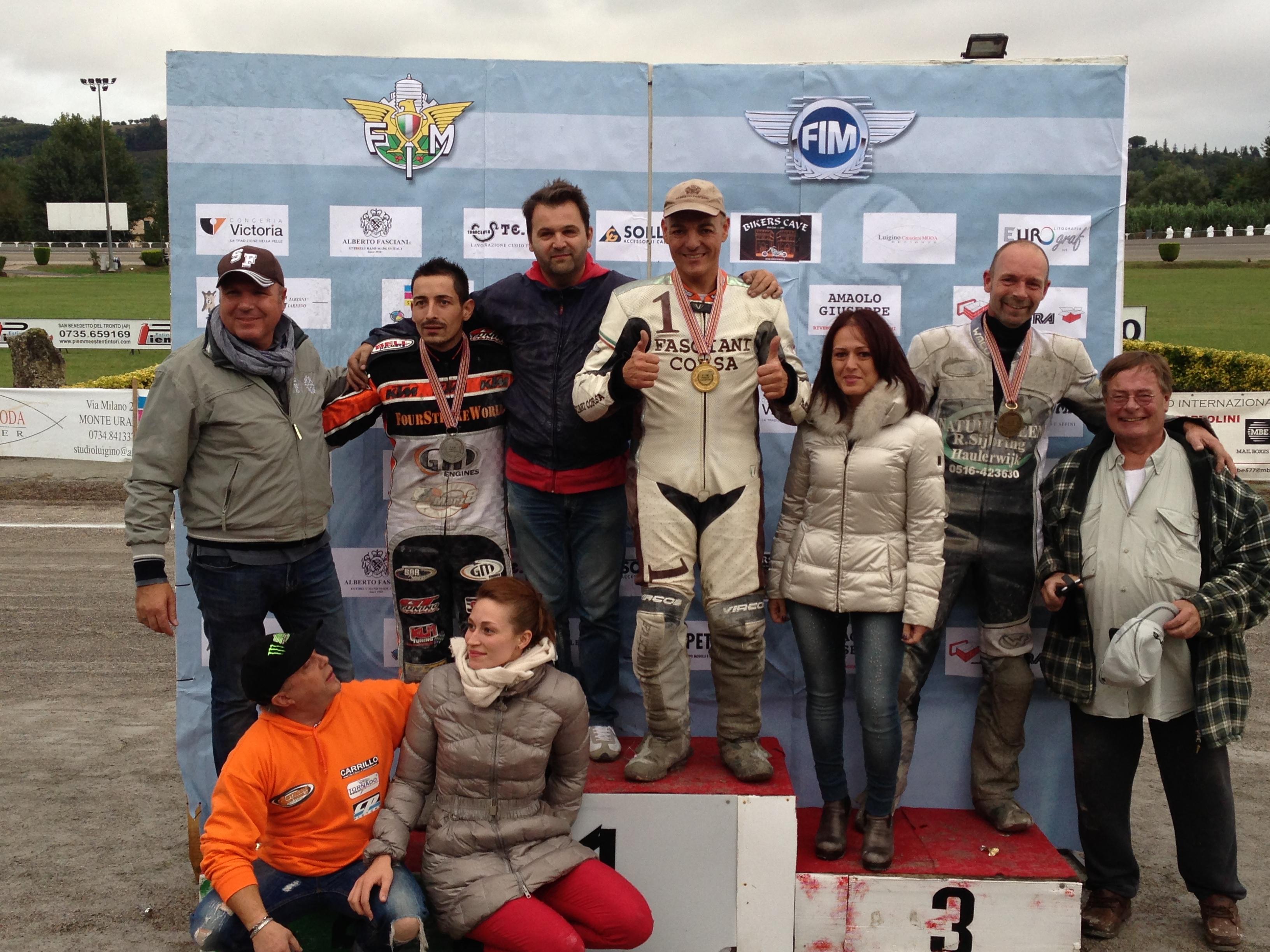 Fabrizio Vesprini a Montegiorgio vincente con il Flat Trak