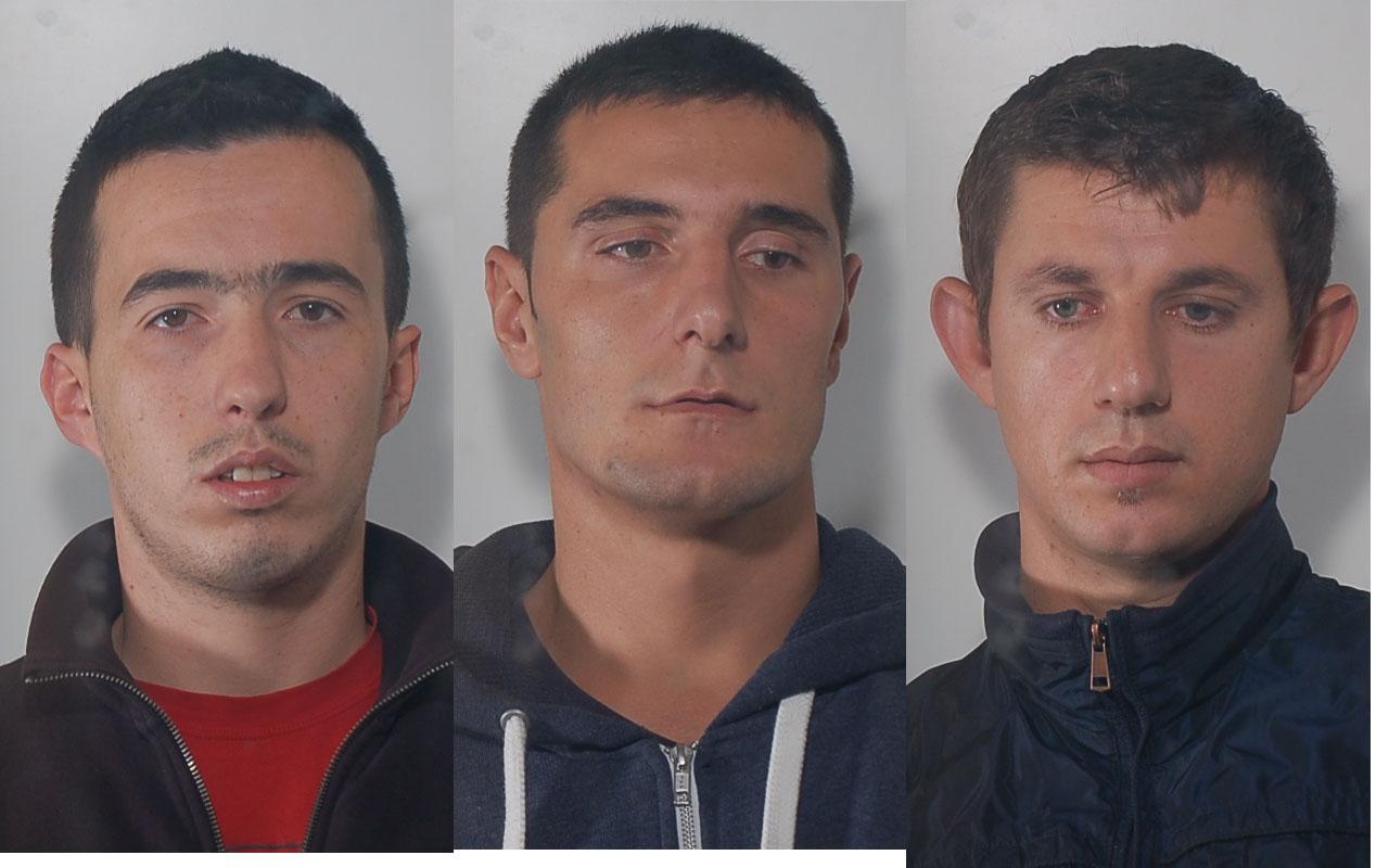 I tre albanesi arrestati dalla Squadra Mobile