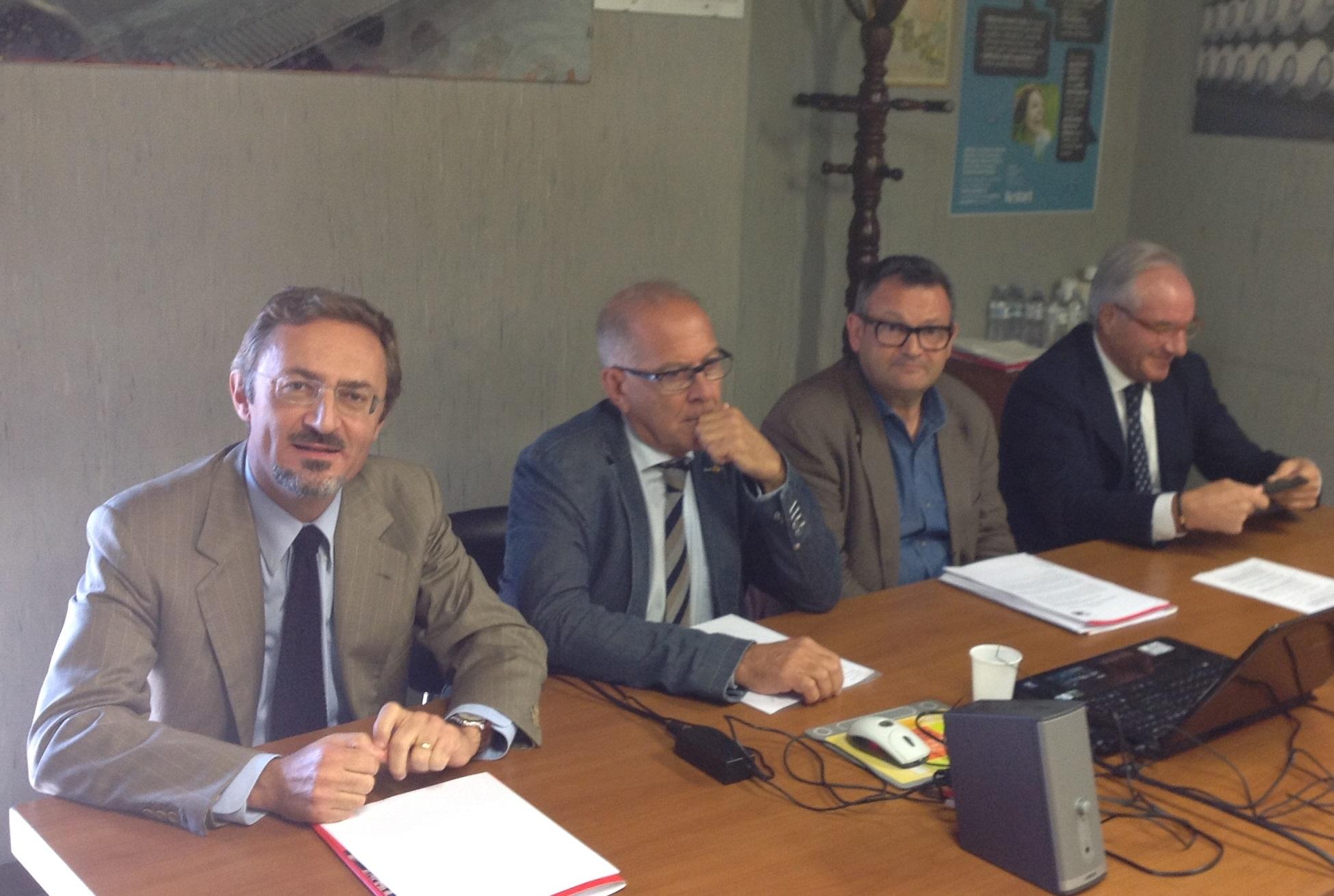 I vertici di Restart Vincenzo Marini Marini, Bruno Bucciarelli, Franco Gaspari, Battista Faraotti