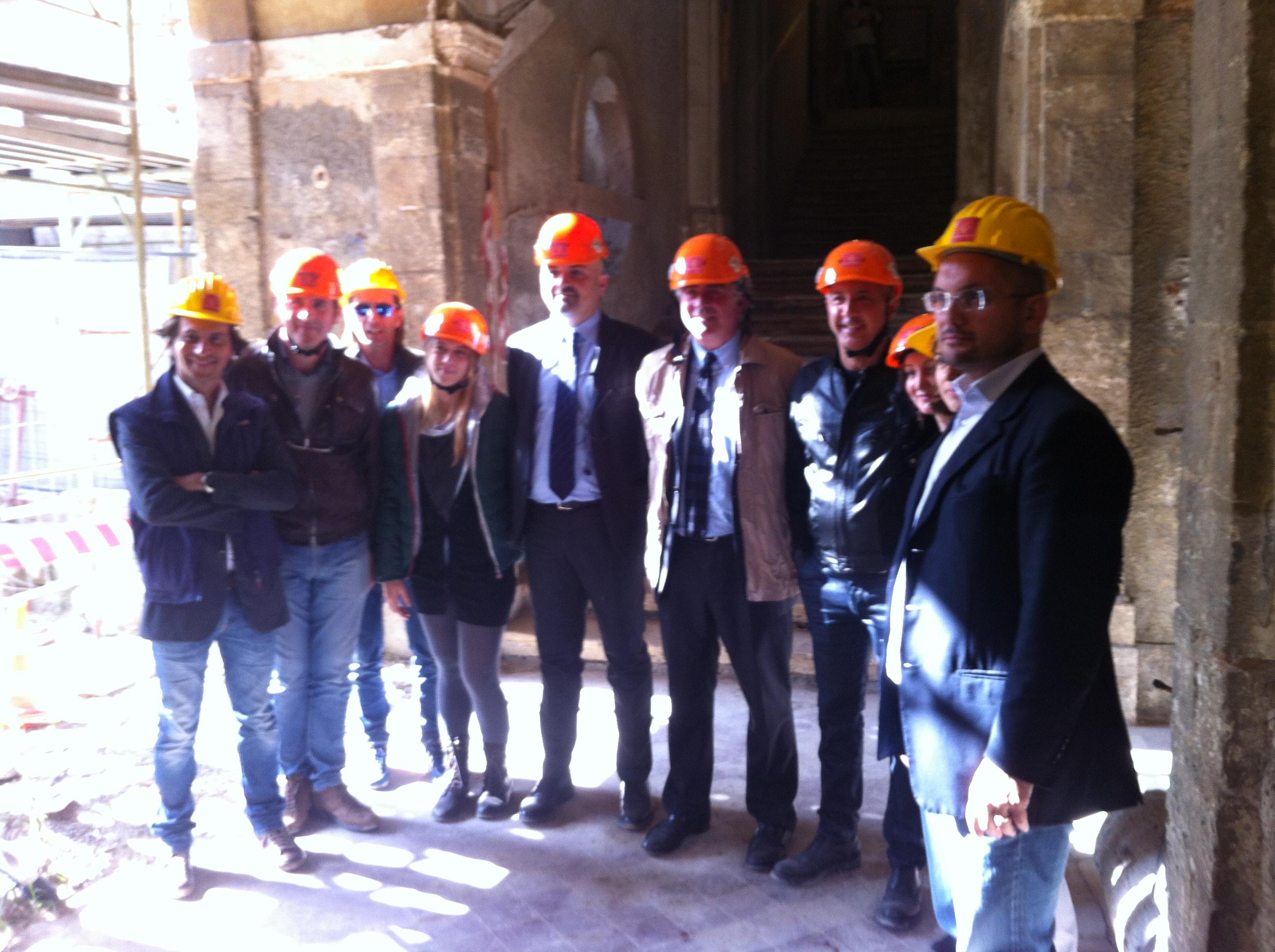 29 ottobre 2013, visita dei lavori a Palazzo Sgariglia