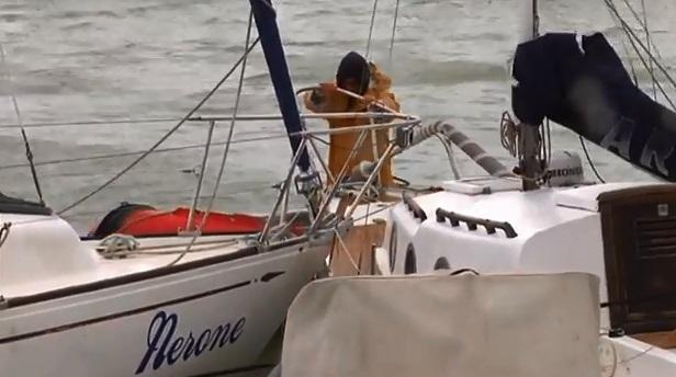 Ciclone Venere al porto di San Benedetto