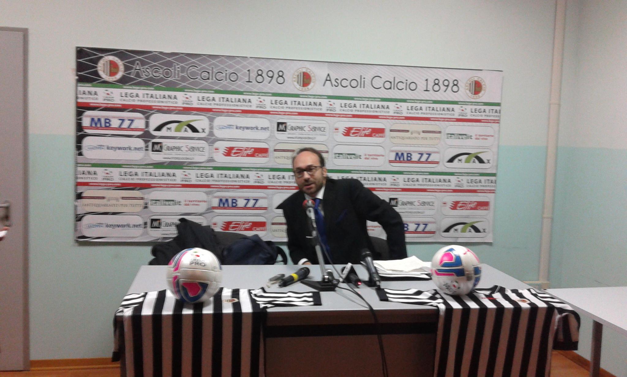 Costantino Nicoletti, 42 anni, nuovo presidente dell'Ascoli