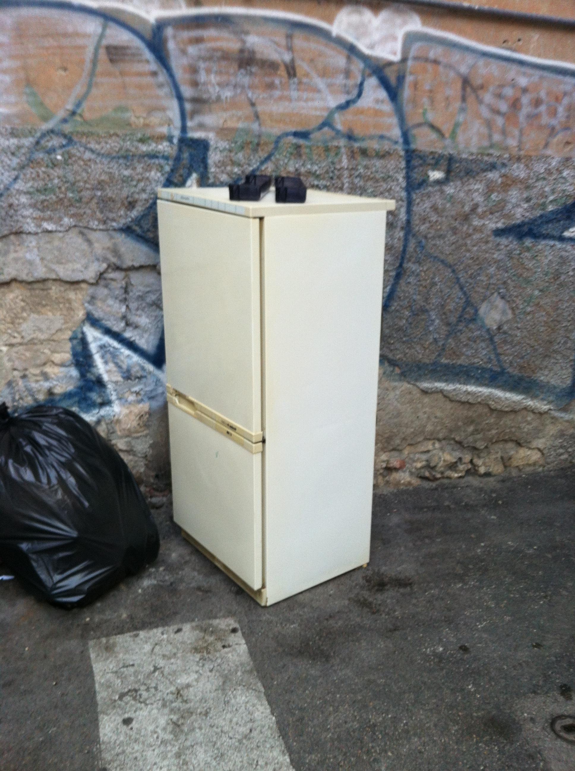 Il frigorifero abbandonato