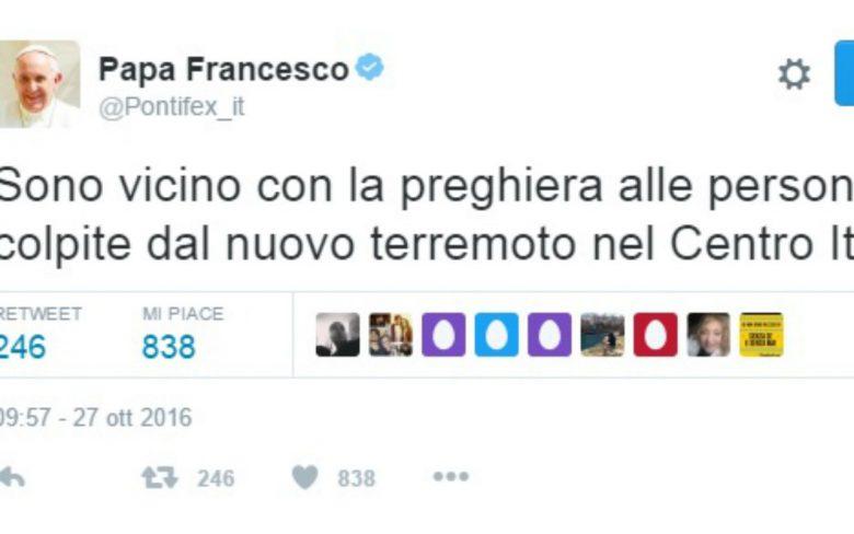 Papa Francesco su Twitter