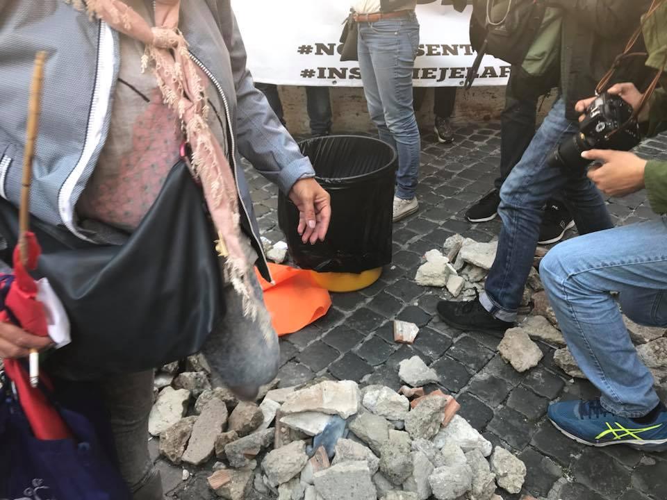 Le macerie dei sibillini arrivano in piazza montecitorio for Montecitorio oggi