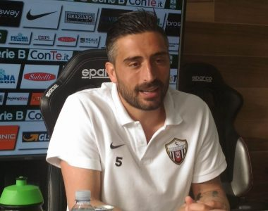 Andrea Mengoni, capitano Ascoli Picchio al termine di Ascoli-Carpi (foto Chiara Poli)