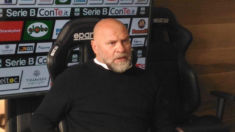 Serse Cosmi, allenatore Ascoli Picchio al termine di Ascoli-Carpi (foto Chiara Poli)