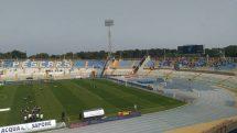 Ascoli, riscaldamento prima del match col Pescara