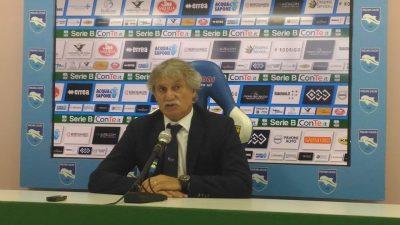 Pillon mister Pescara, al termine del match tra Pescara e Ascoli (foto Chiara Poli)