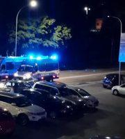 Ultras Cosenza e forze dell'Ordine ad Ascoli (foto Peppe Rossi)