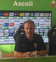 Mister Vivarini, Ascoli dopo la vittoria contro il Lecce (foto Chiara Poli)