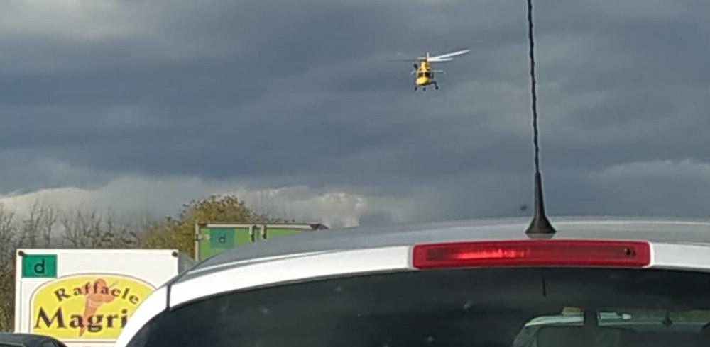 Incidente stradale vicino Ascoli, coinvolti tre mezzi. Intervento dell'eliambulanza - Piceno Oggi