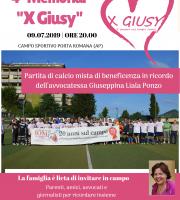 Memorial Giusy Ponzo 4° edizione