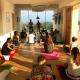 yoga in vigna a terra argillosa