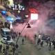 La polizia lancia lacrimogeni e disperde i manifestanti contro il nuovo Dpcm, siamo a Porta Maggiore, 1 novembre 2020