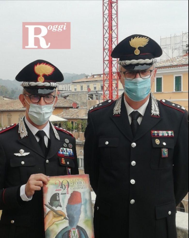 Calendario Ascoli 2021 Presentato ad Ascoli il calendario 2021 dell'Arma dei Carabinieri